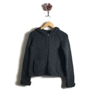 Abercrombie & Fish Charcoal Gray Wool Hoodie